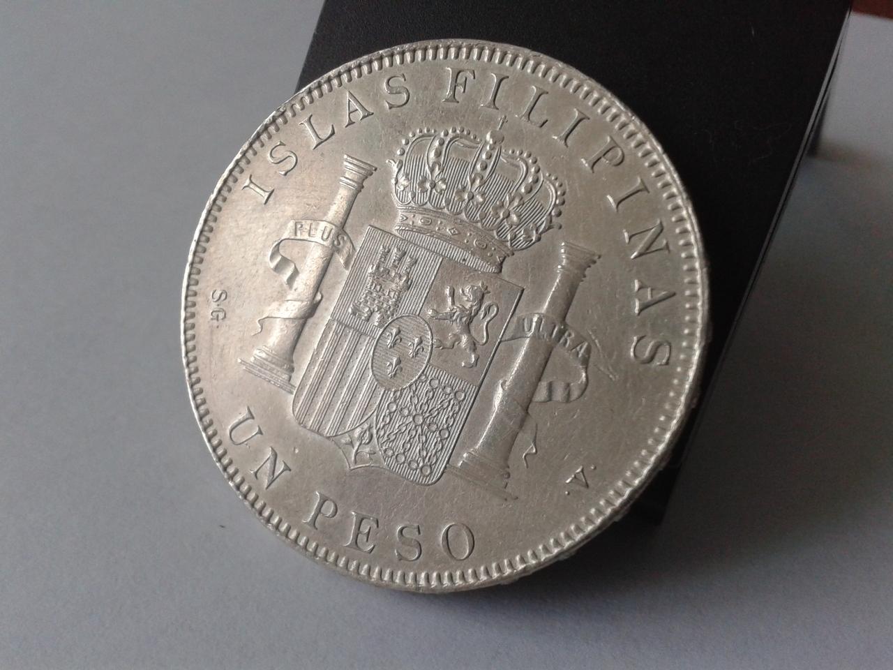 Un PESO Filipinas - 1897 Alfonso XIII 20141019_131711