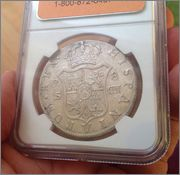 8 Reales Carlos IV 1803 S -CN (Sevilla ) Image