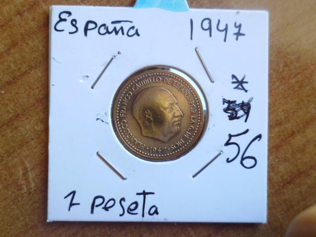 1 peseta 1947 19-56. Estado Español. P1100561
