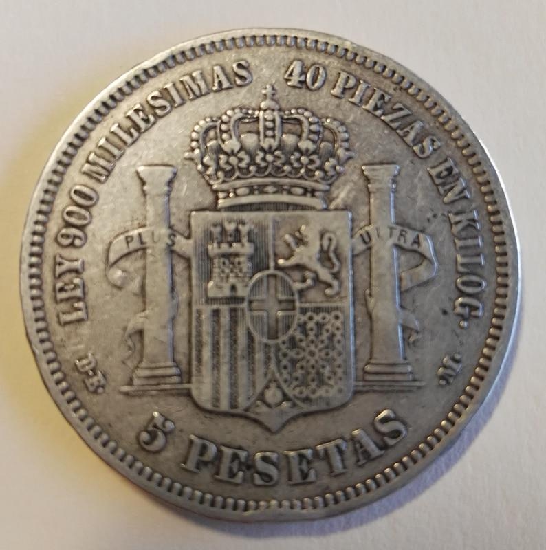 5 pesetas 1871 (*18-73). Amadeo I IMG_20161229_162904