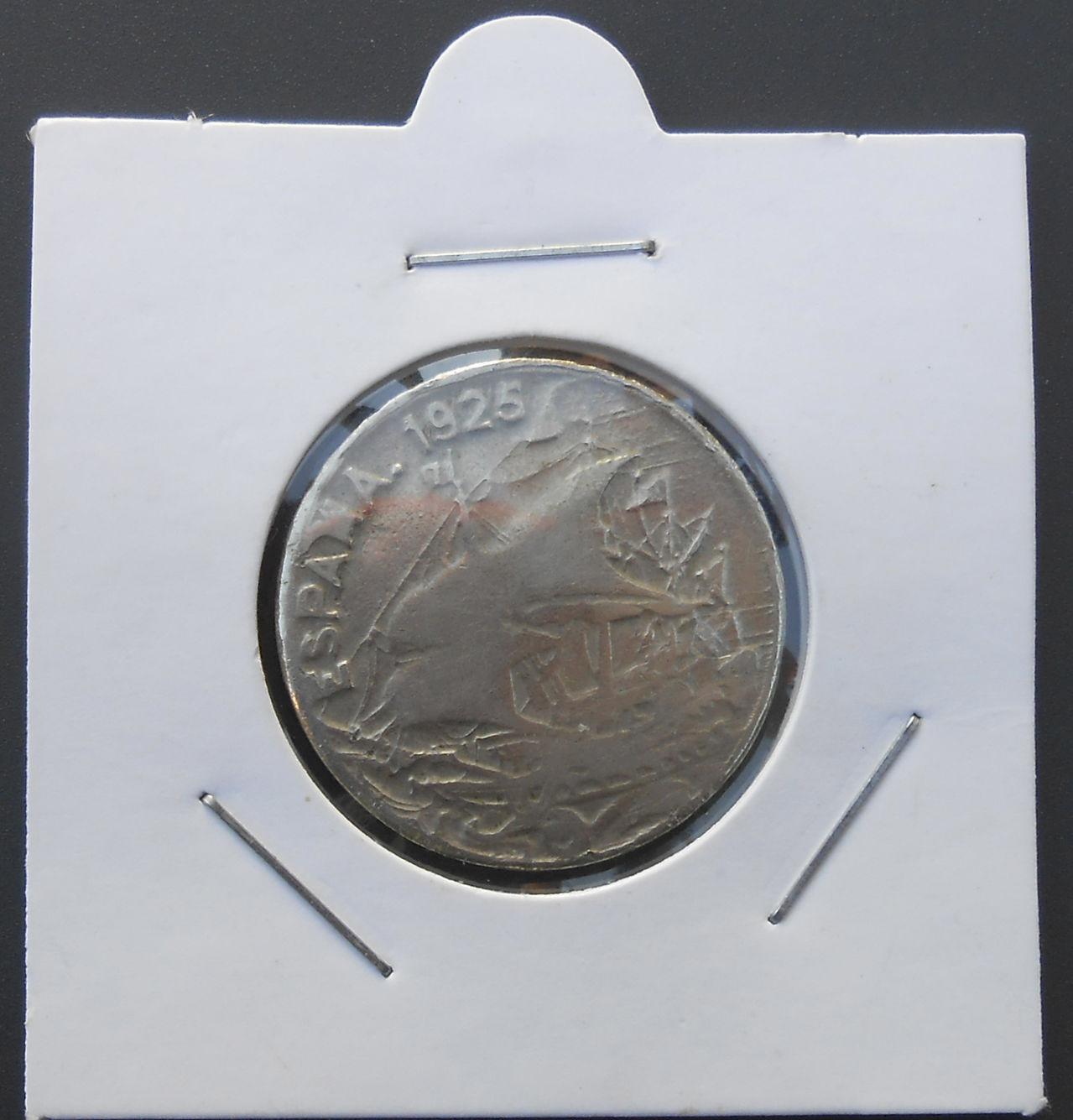 25 centimos Alfonso XIII, 1925 DSCN1478