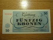 Billetes judios del ghetto del campo de Terezin DSC02523