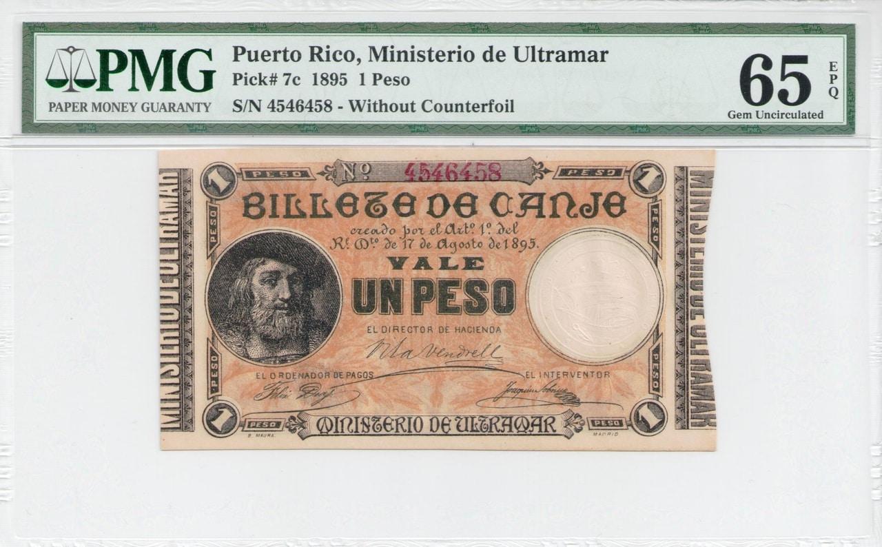 Colección de billetes españoles, sin serie o serie A de Sefcor - Página 4 Peso_pto_rico_anverso
