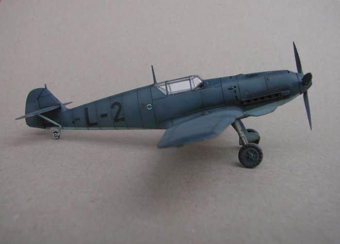 Bf-109E-3VVKJ, Tamiya, 1/72 DSC03064