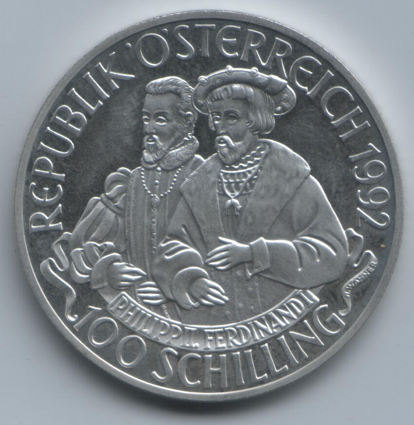 100 schilling Carlos V 1992 Austria 2