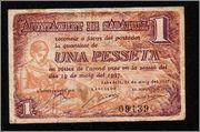 1 Peseta Sabadell 1937 Image