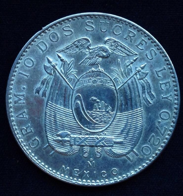 2 Sucres.  Ecuador. 1944 Image