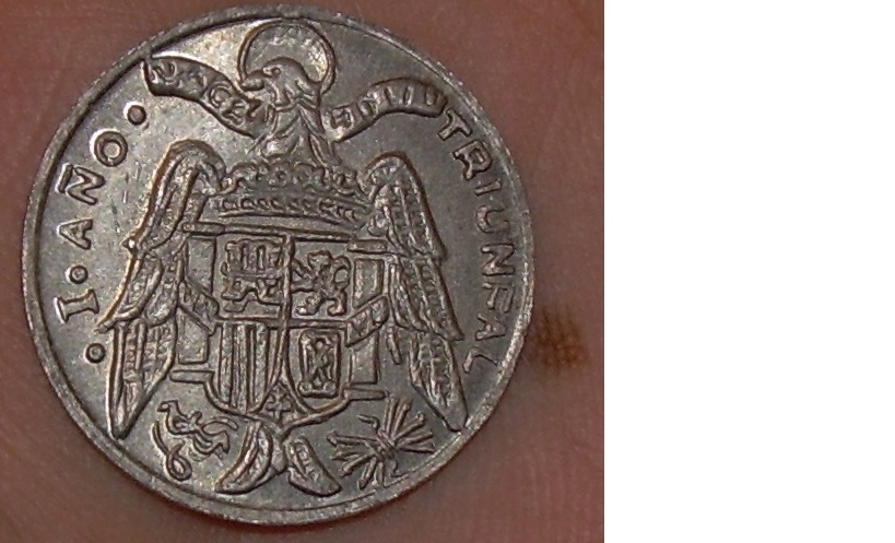 Moneda de 10 centimos I año triunfal Moneda