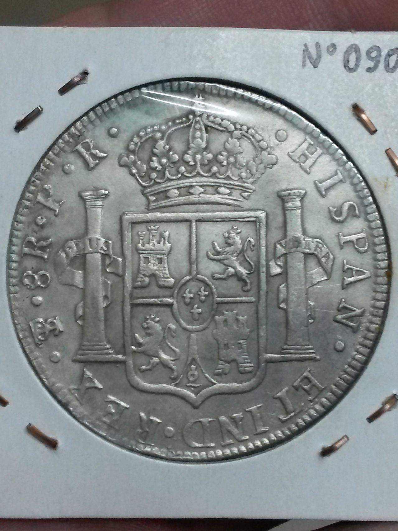 8 reales 1773. Carlos III. Potosí 20150108_211503