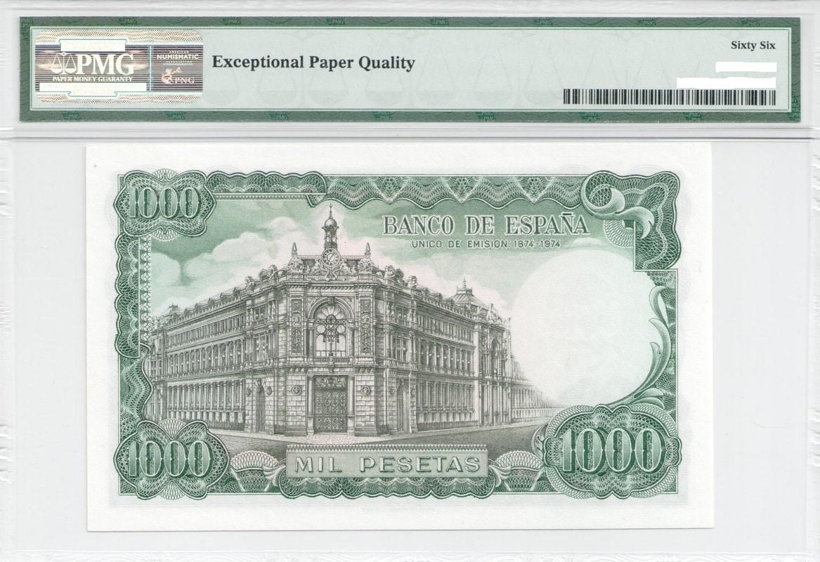Colección de billetes españoles, sin serie o serie A de Sefcor - Página 3 1000_ptas_71_reverso