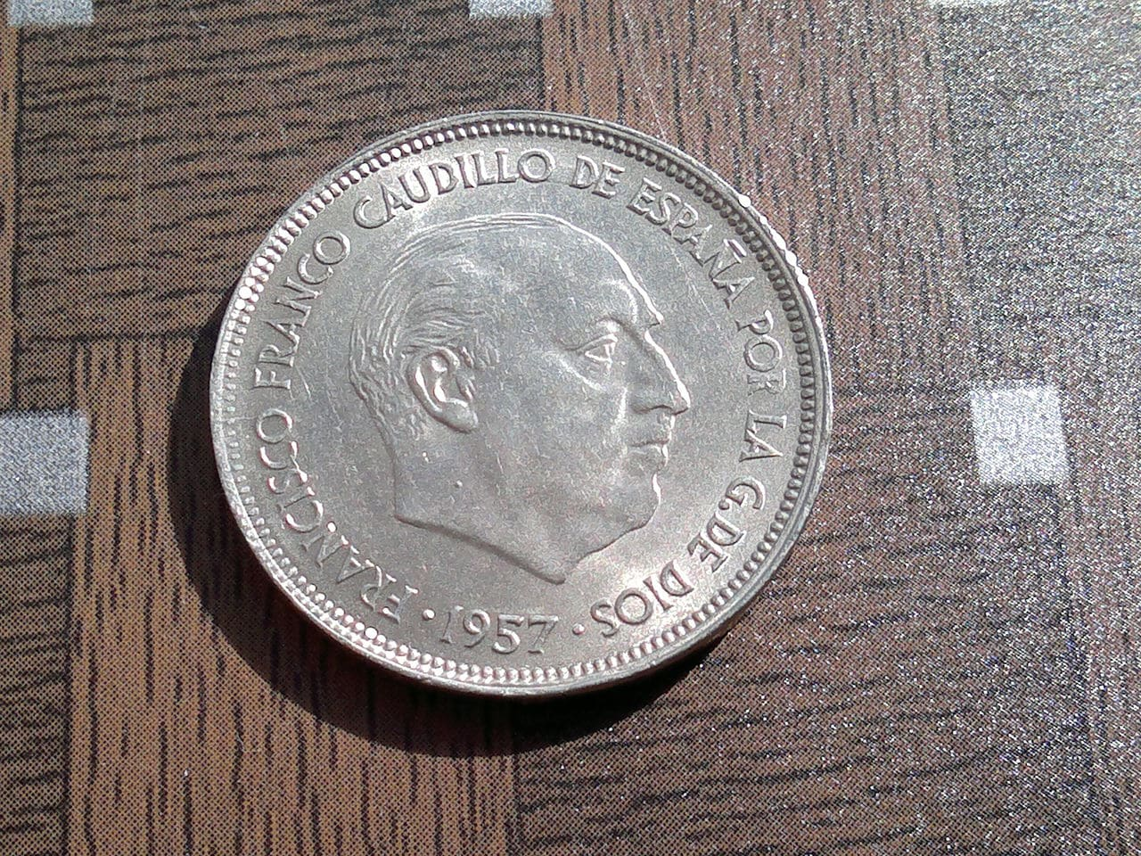 25 pesetas 1957 Estado Español 2014_01_30_2697