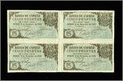 5 Pesetas 1936 (Curioso bloque de 4) 2121