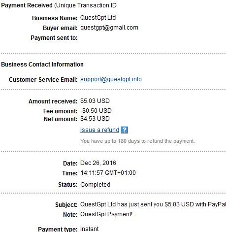 1º Pago de Questgpt ( $5,03 ) Questgptpayment