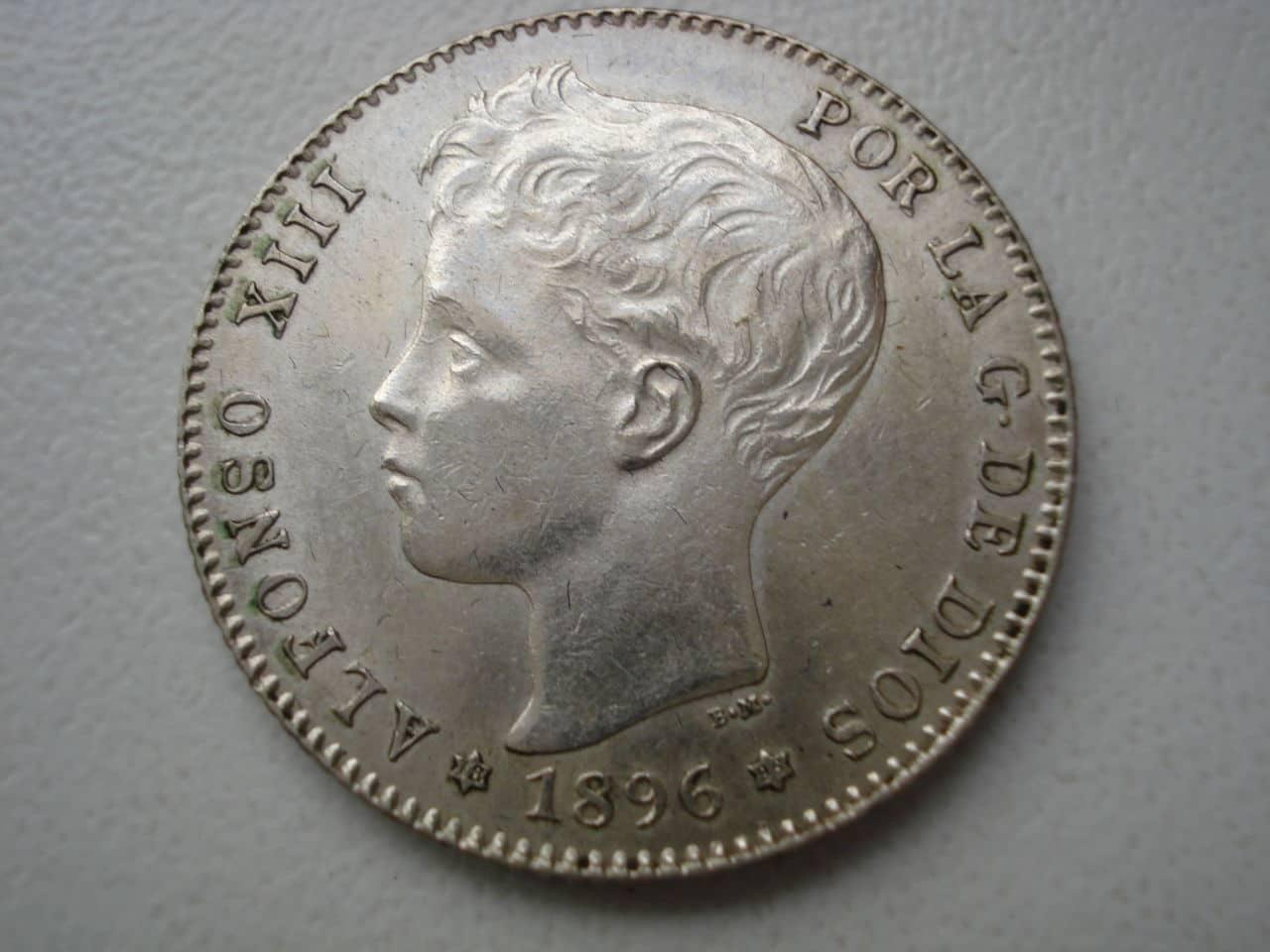 peseta 1896 Alfonso XIII. Dedicada a Estrella76. Monedas_007