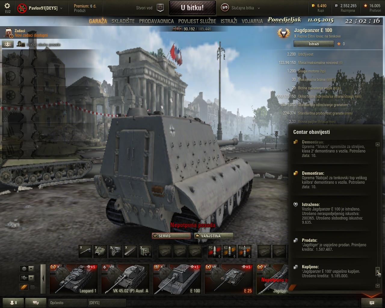 Pavlov91 - Jagdpanzer E100 Shot_221