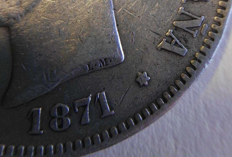 5 pesetas 1871 (*18-73). Amadeo I IMG_20161229_163105