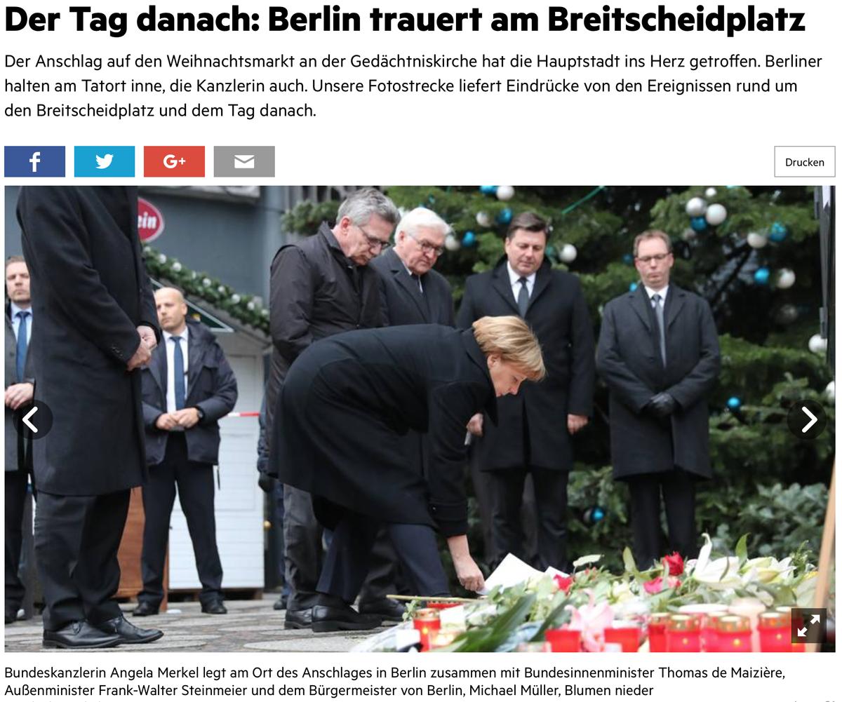 """Truck Attack – """"Anschlag"""" in Berliner Weihnachtsmarkt B007"""