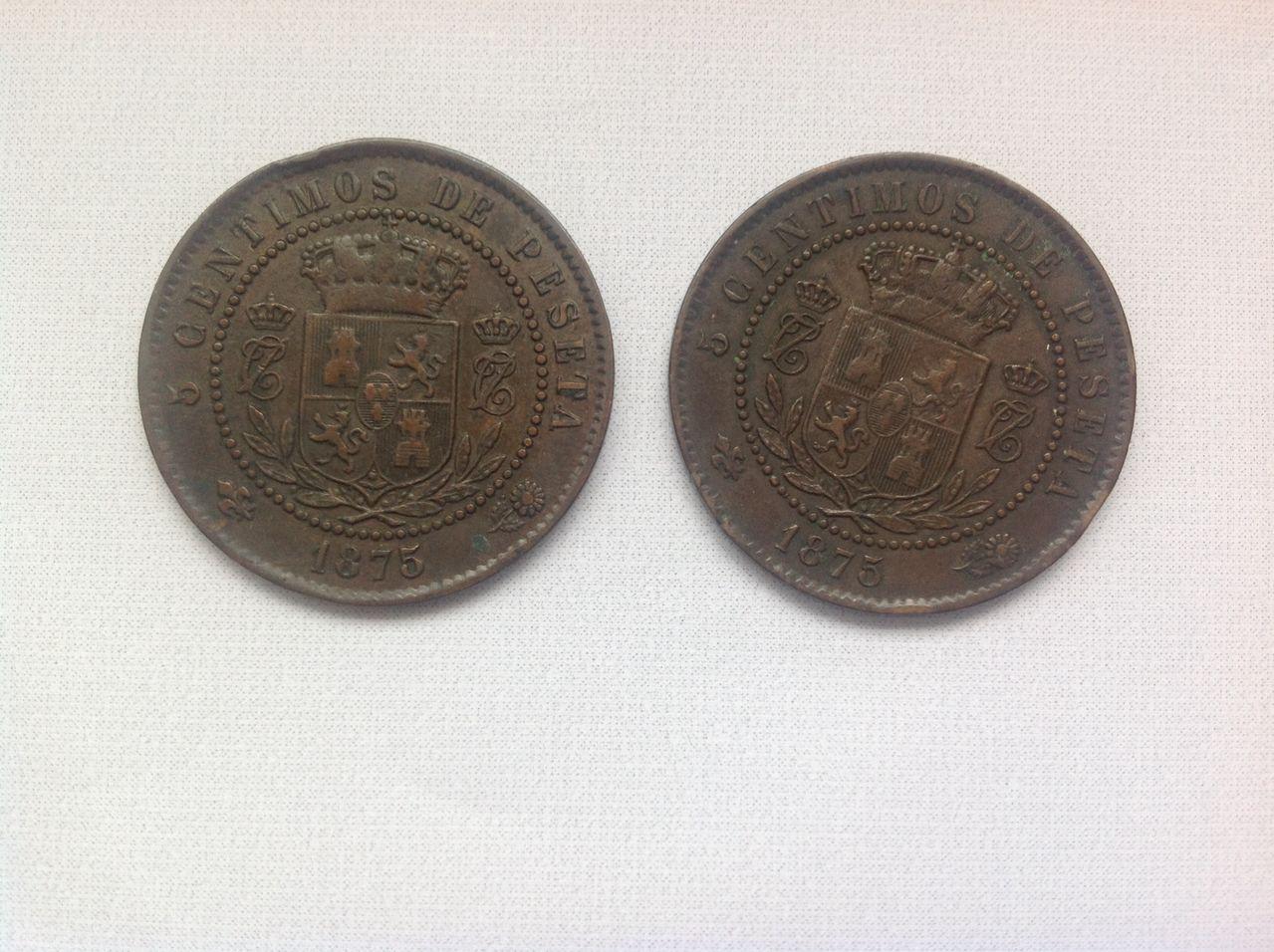 5 céntimos 1875 Carlos VII Image
