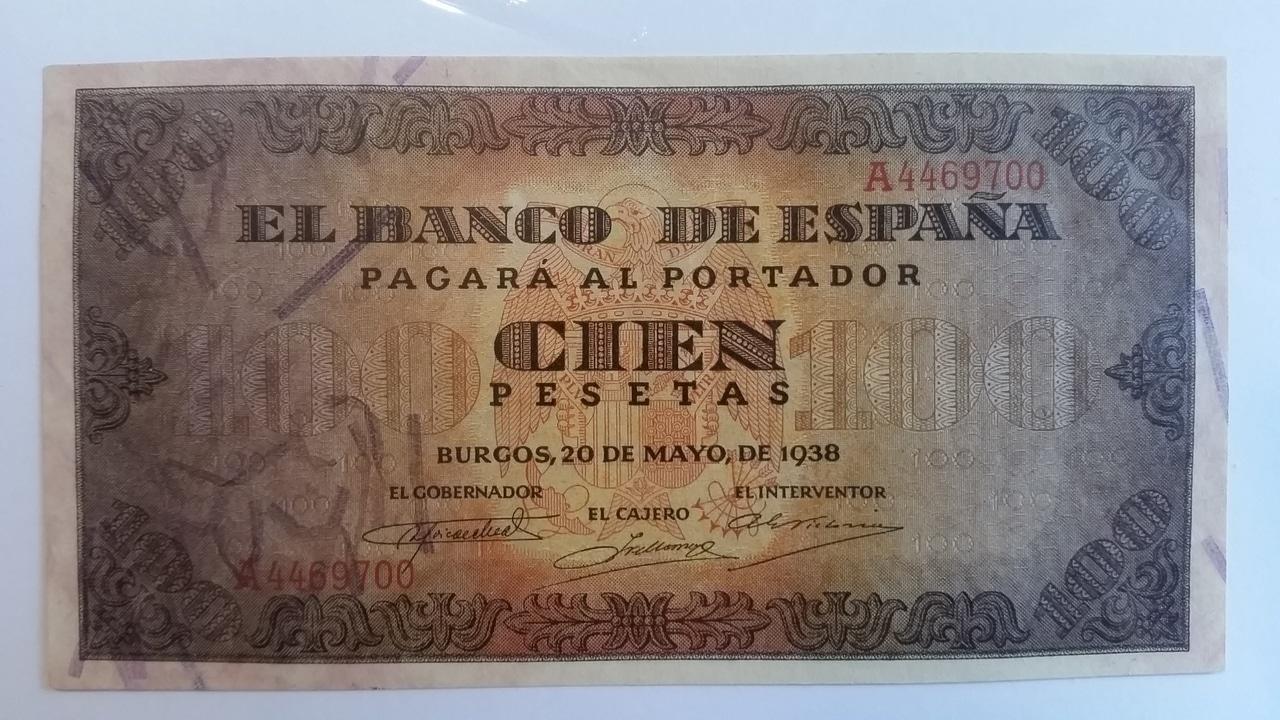 Colección de billetes españoles, sin serie o serie A de Sefcor pendientes de graduar 20161217_120343