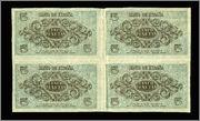 5 Pesetas 1936 (Curioso bloque de 4) 2222