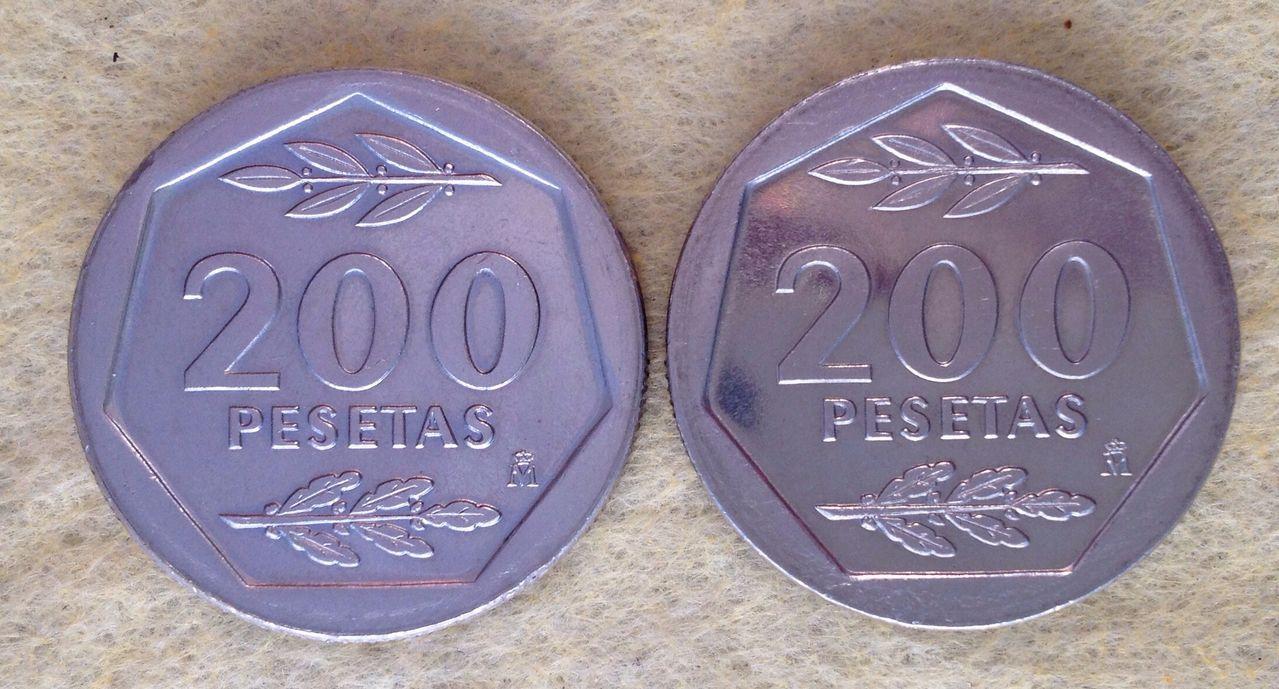 200 pesetas 1986 Juan Carlos I - Cuestión de bustos Image