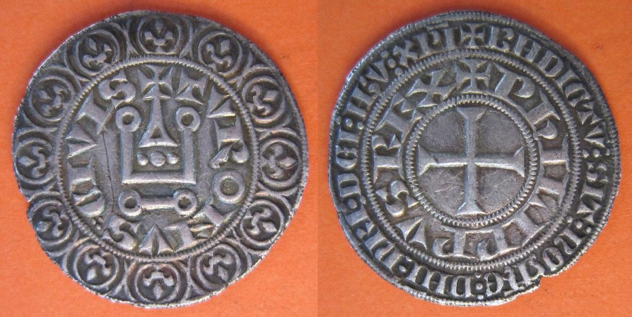 """Gros Tournois de Felipe IV """"El Hermoso"""": Turonus Civis (1285-1314) Gros_Tournois_Felipe_IV_Francia_1285_1314"""