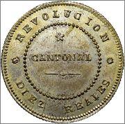10 Reales 1873 Revoluccion Cantonal (Cartagena) Image