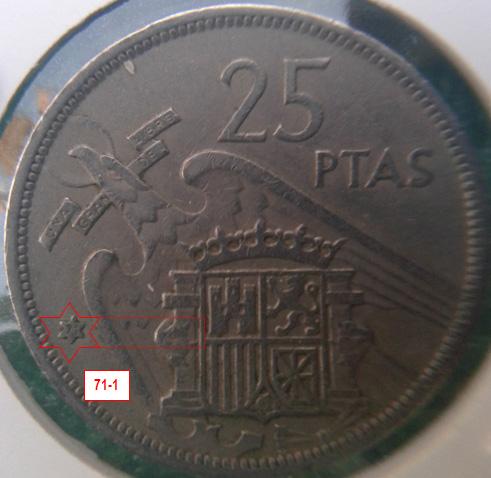 Geometría de las estrellas de las monedas de 25 pesetas 1957* 71_1_E