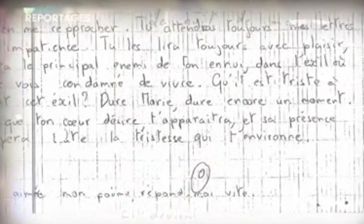les lettres à Marie et Sophie Lettre2