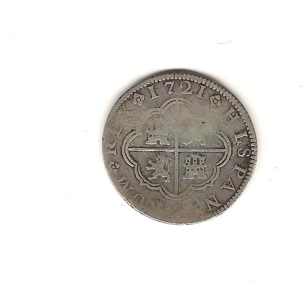 2 reales de Felipe V año 1721 Image