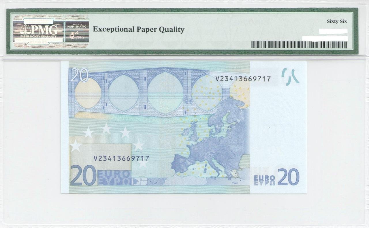 Colección de billetes españoles, sin serie o serie A de Sefcor - Página 3 20_euros_trichet_reverso