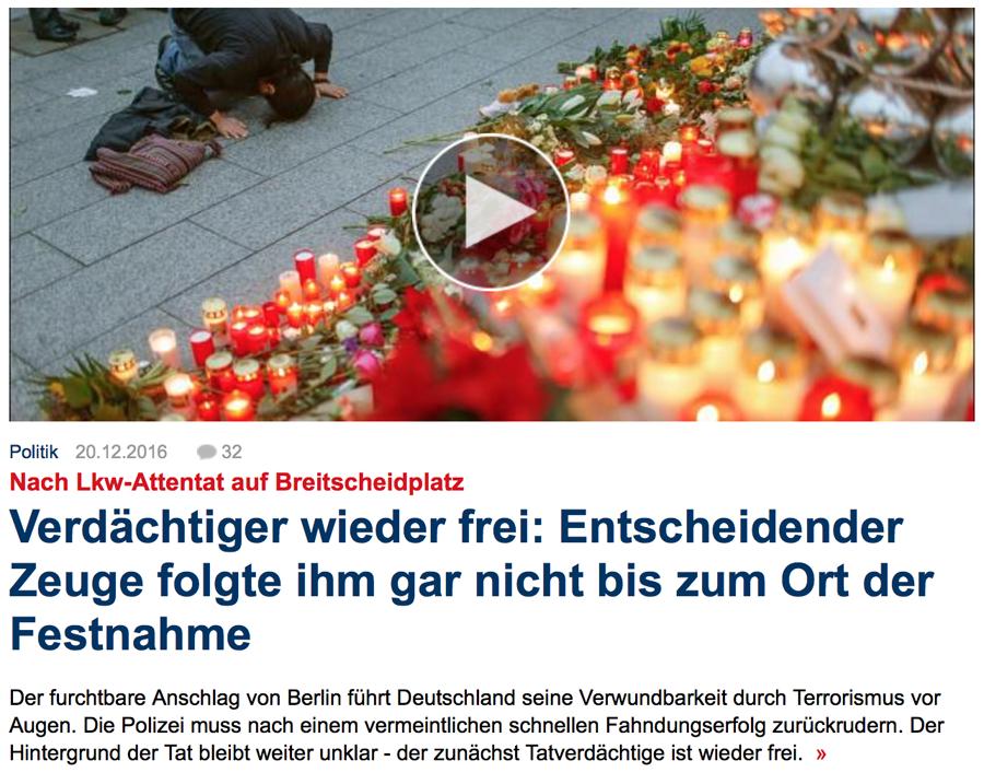 """Truck Attack – """"Anschlag"""" in Berliner Weihnachtsmarkt B003"""