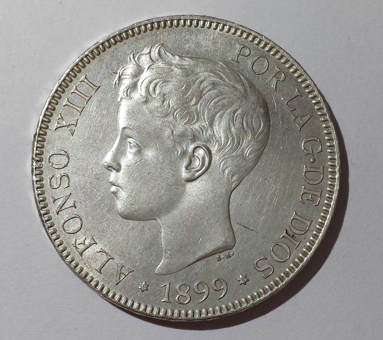 5 pesetas 1899 S-GV 5pesetas1899