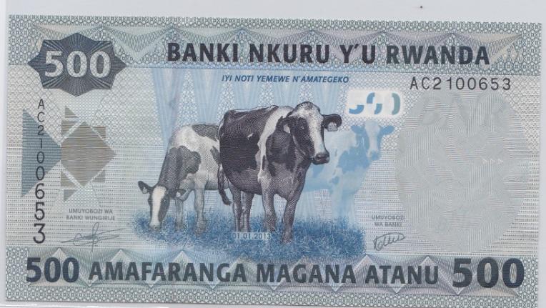 500 francos Rwanda, 2013 Rwanda_500_francos_2013_A