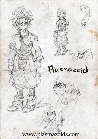 Plasmazoid - Webcomic - Estudo de Personagens, Rascunhos ... Dnew