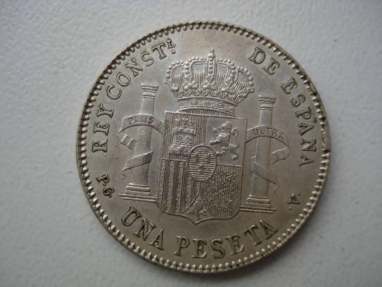 peseta 1896 Alfonso XIII. Dedicada a Estrella76. Monedas_008