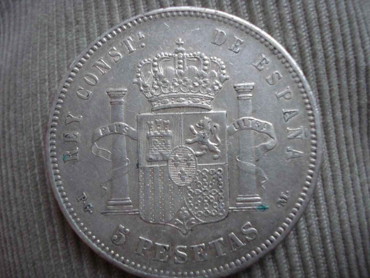 5 pesetas 1892 Alfonso XIII - PG.M Alfonso_XIII_1892