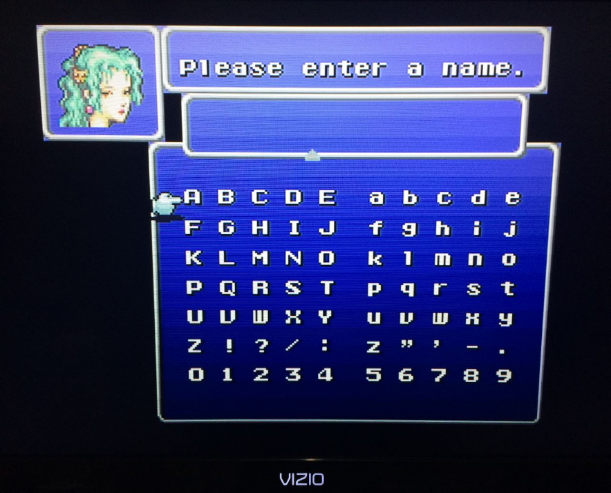 Play Through Final Fantasy III With Me Name
