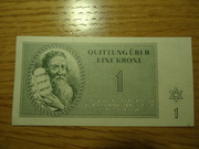 Billetes judios del ghetto del campo de Terezin DSC02518