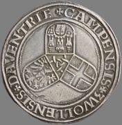 Tálero sin fecha a nombre de Carlos V (1538 - 1542) de Deventer, Kampen y Zwolle Carolusdaalder_z_j_1538_1542_b