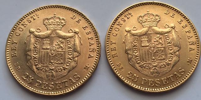 25 pesetas 1878 Alfonso XII variante anepigrafa IMG_6554
