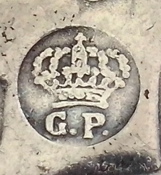 5 pesetas de 1871. Resello GP. Amadeo I.  Image