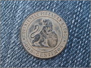 2 Centimos 1870. Gobierno Provisional. 025