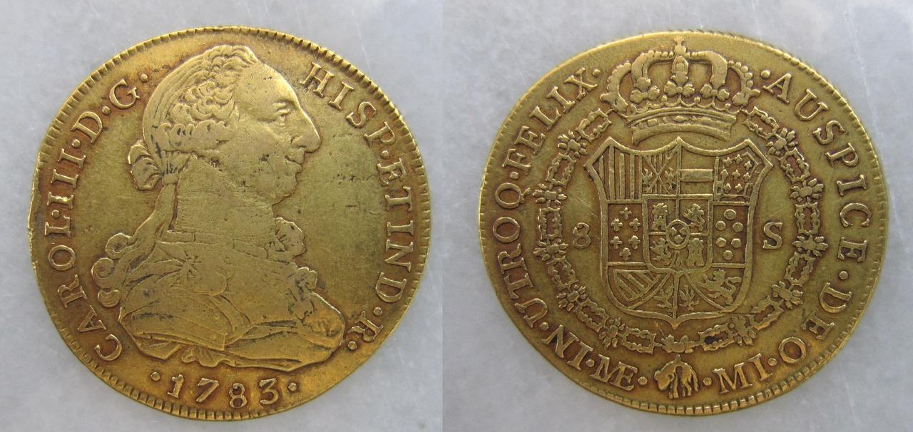 8 escudos 1783. Lima. Carlos III 8_escudos_Lima_1783_Carlos_III