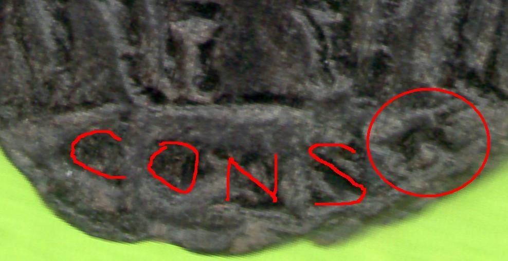 Follis de Constantino I Magno 330 - 333 d. C. GLORIA EXERCITVS. Constantinopolis Estudio_de_oficina