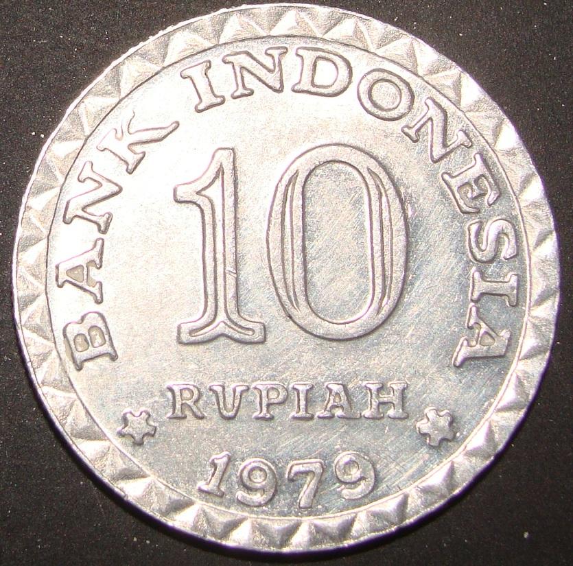 10 Rupias. Indonesia (1979) IDN_10_Rupias_1979_anv