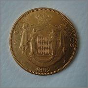 100 Francs 1882 A Charles III MONACO  Image