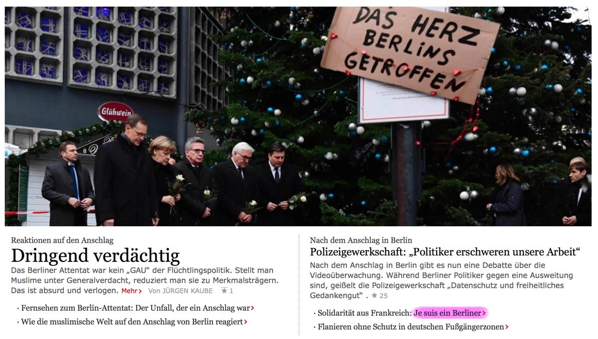 """Truck Attack – """"Anschlag"""" in Berliner Weihnachtsmarkt B006"""