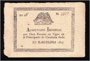 100 pesetas ... ¿1813? ¿Asignado Imperial? As1