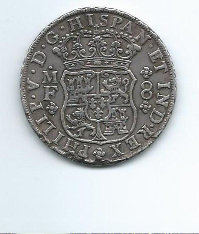 8 reales de Felipe V, México. año 1741 Image